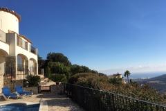 Villa Shangri-La looking down towards the Med